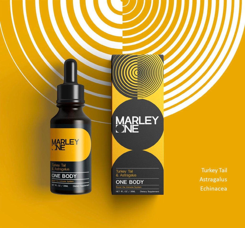 One Body by Marley One - Available From LocoSoco - Functional Mushroom Tinctures for Boosting Immune System