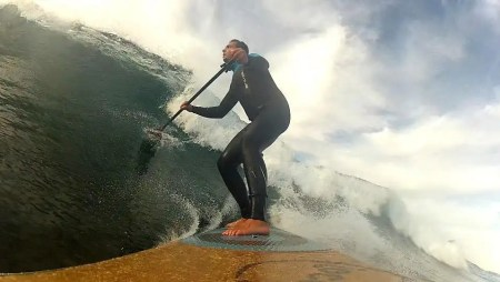 Loco SUP Paddle Surfing on location in Fuerteventura.
