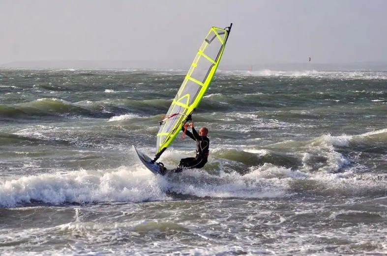 Windsurfing Hayling Island by Simon Freeman