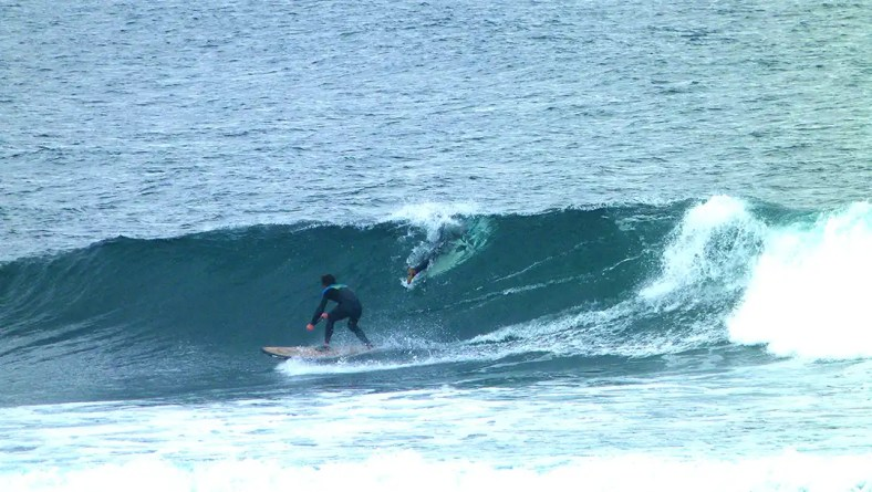 "Steve Laddiman scored at Thurso on his 7'10"" Loco SUP"
