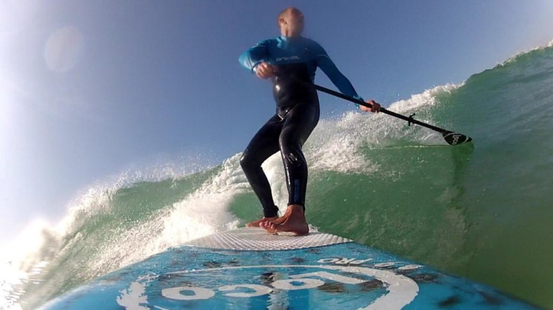 Back hand from board paddle in nice light
