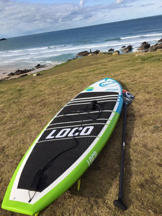 Loco Amigo SUP post session on cliffs in Kernow