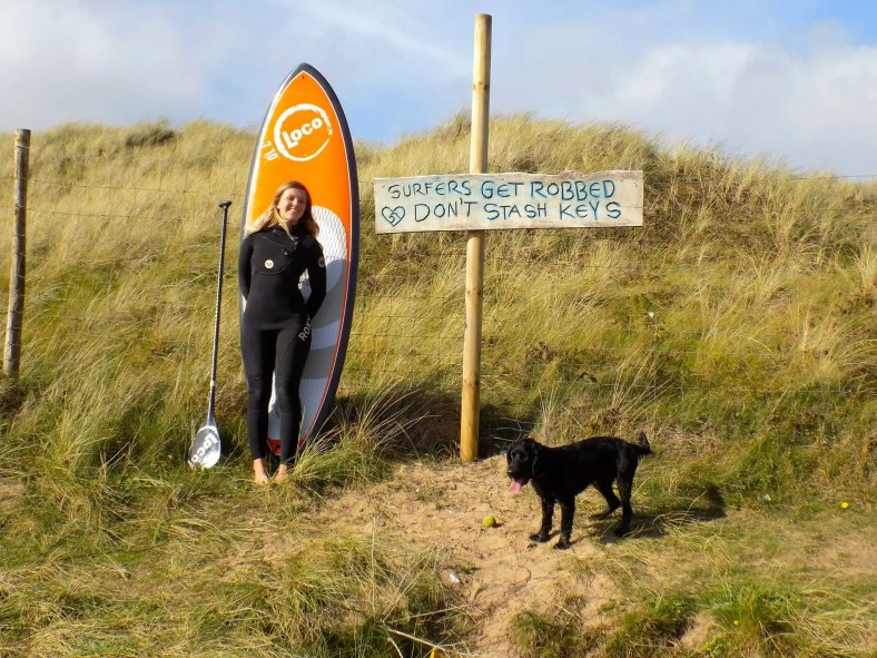 Laura Truelove with Loco Comp Pro SUP
