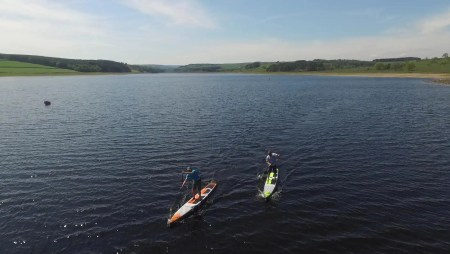 SUP Race Training With BSUPA Instructors at Derwent Reservoir