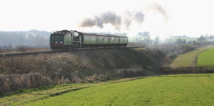 Approaching Ropley - 850 Lord Nelson