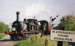 1993 - 32650 Sutton & 1556 - Leaving Rolvenden (Tenterden Bank)