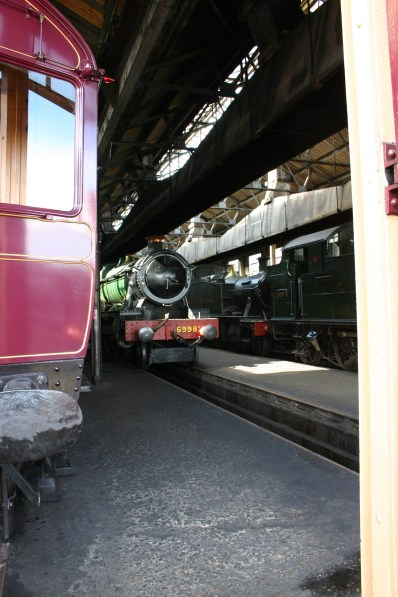 Didcot Railway Centre - 93 Steam Railmotor, 6998 Burton Agnes Hall, 5572 & 6697
