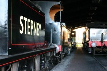 Bluebell Railway - Sheffield Park - Terrier A1X class 55 Stepney, LSWR B4 96 Normandy & 9017 Earl of Berkeley