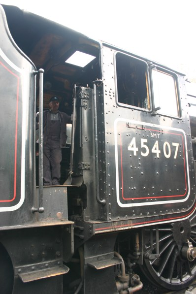 2009 - North Yorkshire Moors Railway - Goathland - 45407 The Lancashire Fusilier cab