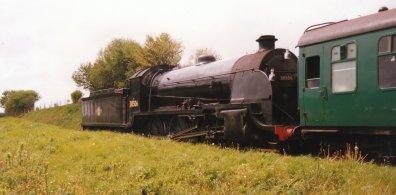 Watercress Line 1997 - S15 class 30506 departing Ropley
