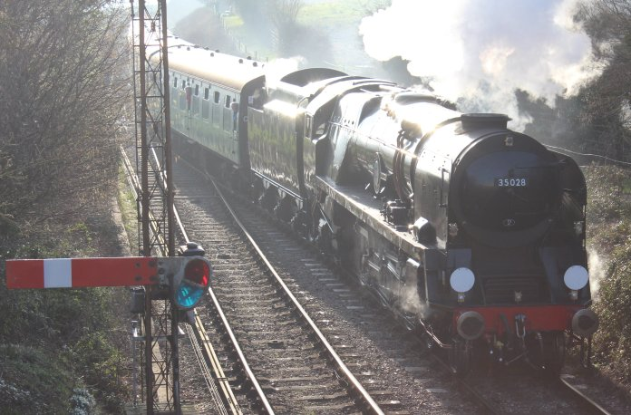 156 - 2014 - Watercress Line - Spring Steam Gala - Ropley - Merchant Navy Class - 35028 Clan Line