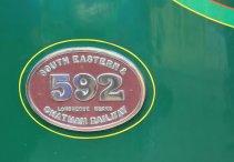 2014 Bluebell Railway - East Grinstead - SECR C class 592 numberplate