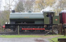 Nov 2014 Peak Rail Rowsley South - Hunslet Austerity 0-6-0ST Lord Phil