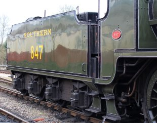 2015 - Bluebell Railway - Sheffield Park - Southern Railway Maunsell S15 class 847 tender