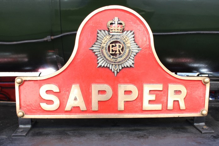 2015 - East Lancashire Railway Bury Bolton Street - WD Hunslet Austerity 132 Sapper nameplate