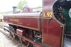 South Devon Railway Buckfastleigh July 2015 - 57xx class Pannier Tank London Transport L.92