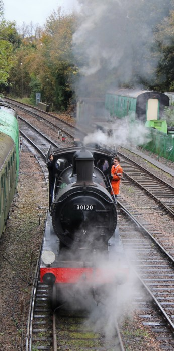 Watercress Line Autumn Steam Gala 24 October 2015 - Ex-LSWR T9 class 30120