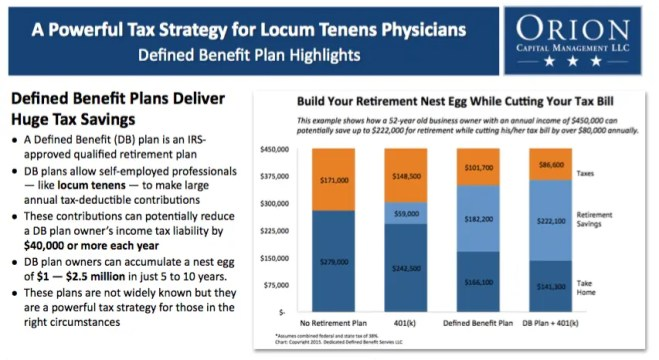 Defined Benefit Plan PDF for Locum Tenens