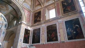 tele barocche nel presbiterio sinistro del Duomo di Pozzuoli