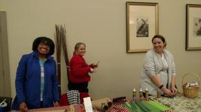 Keisha, Kristi, and Alana presided over the crafts table.