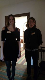 Elle and Abigail acted as docents in the house.