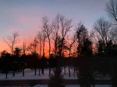 Sunset above Pilgrim