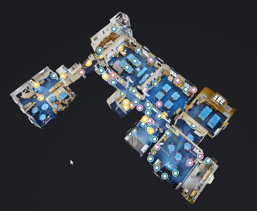 3D virtual tour of a building
