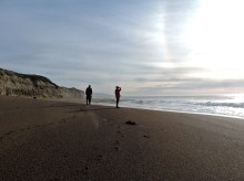 One last walk on the beach