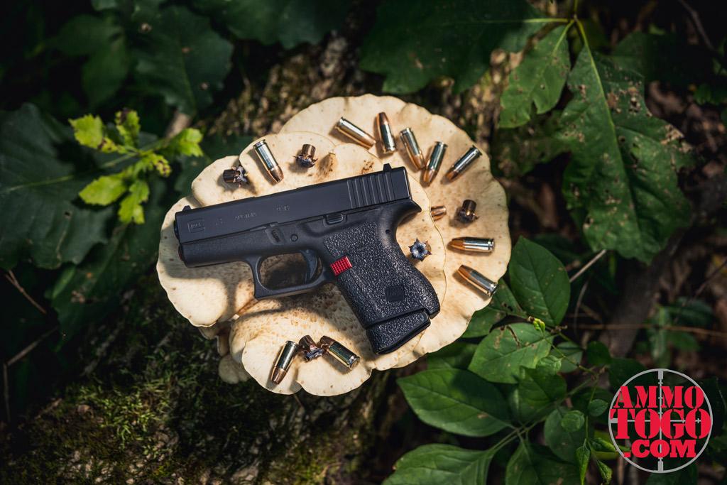 photo of glock 43 handgun outside