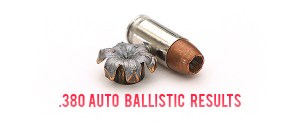 380 Auto Ballistic Test Results
