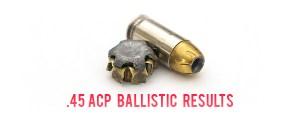 45 ACP ammo Ballistic Test Results