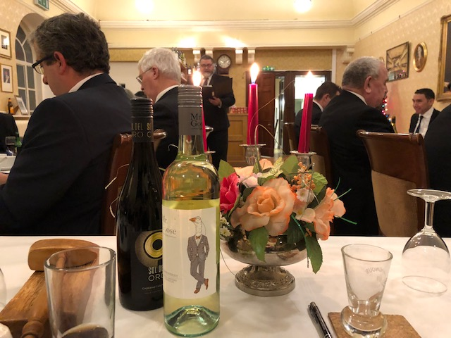 From the Masters Chair at the Festive Board