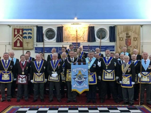 Banner Dedication Columbanus Lodge Provincial Team