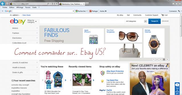 Comment commander des produits à l'étranger sur Ebay US?