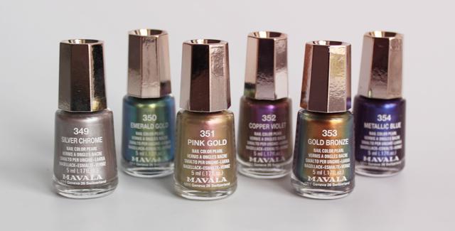 mavala metropolitan colors nail polishes