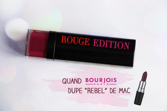 Bourjois dupe le rouge à lèvres Rebel de Mac!