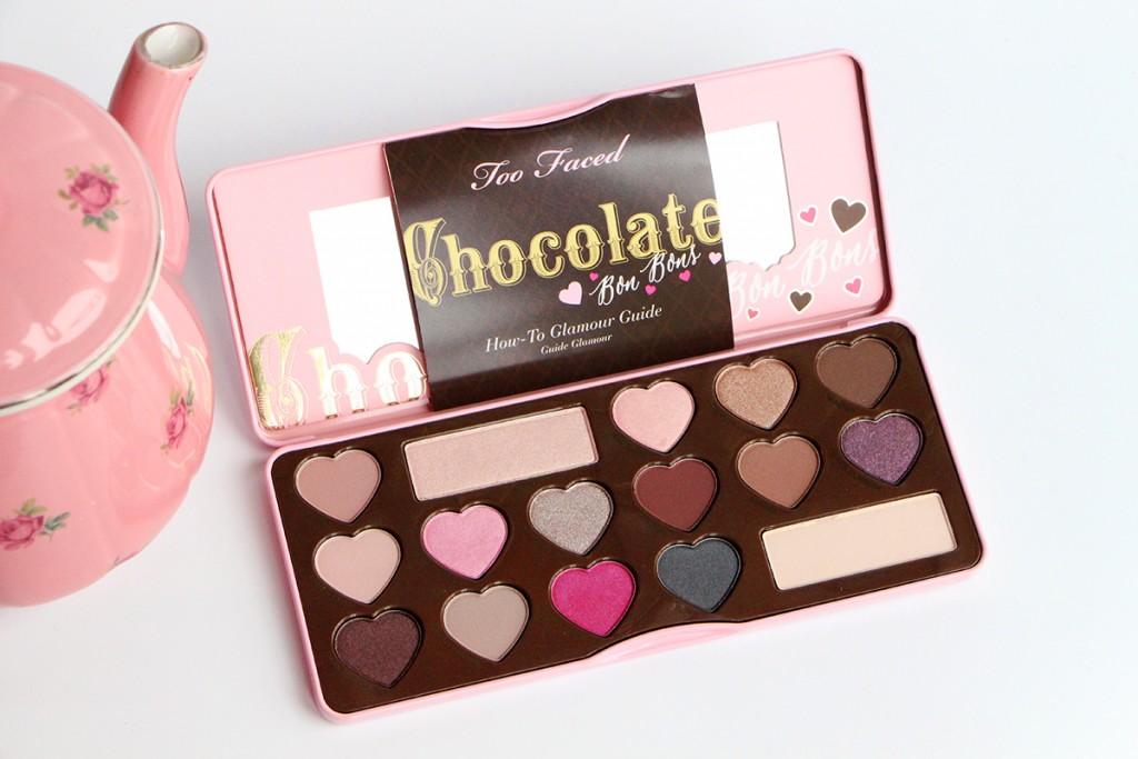 too faced chocolate bon bon open
