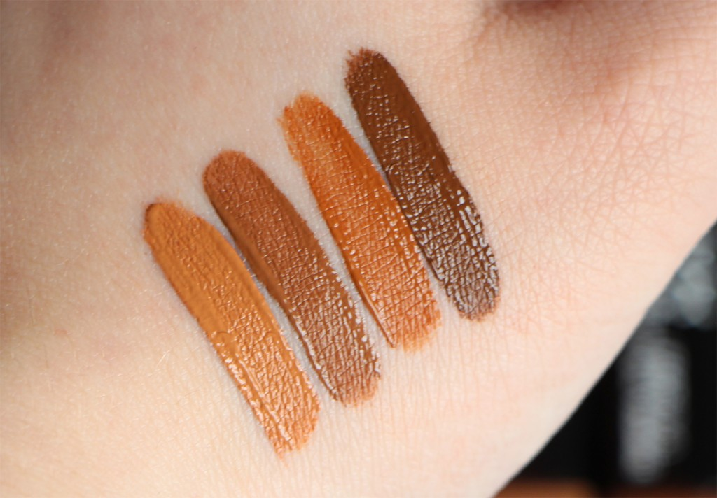 NYX sculpt highlighter face duo swatches 5 and 6