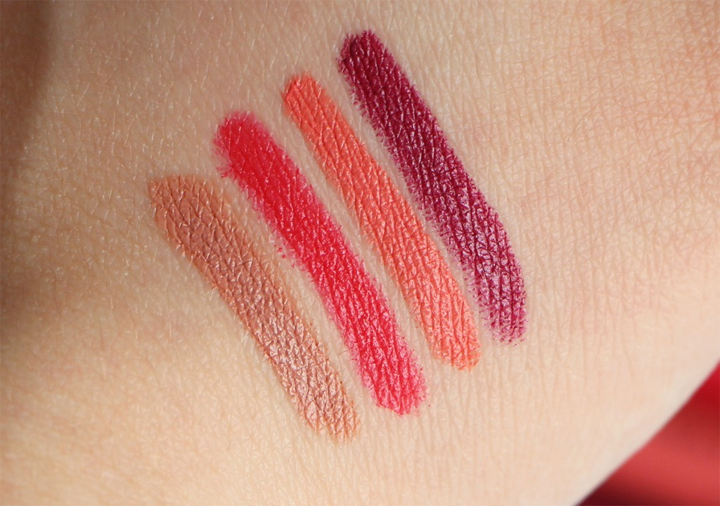 color drama color show crayon lip pencil velvet matte swatch
