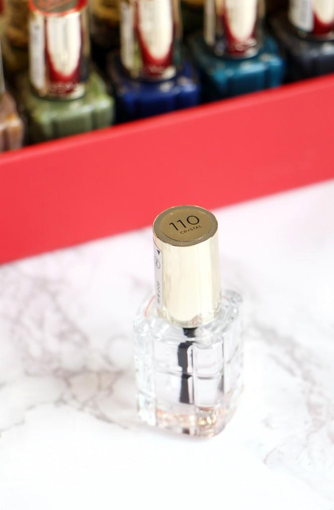 crystal top coat loreal review nail polis