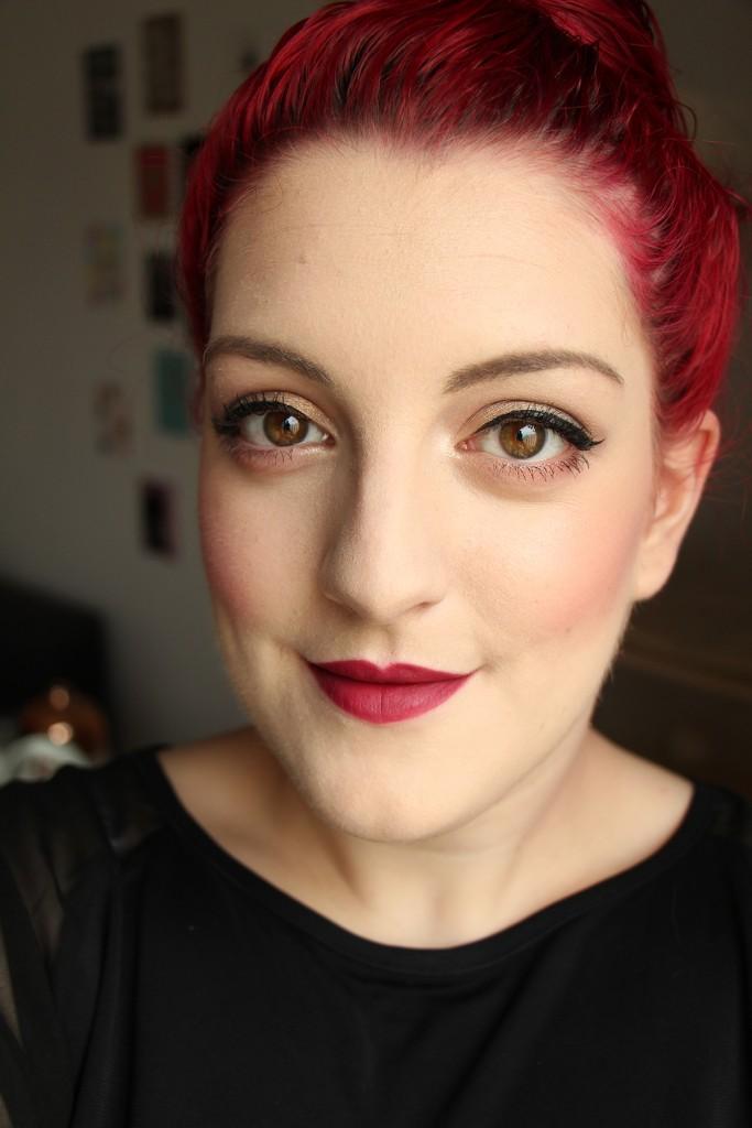 kiko velvet passion matte lipstick 317 face1
