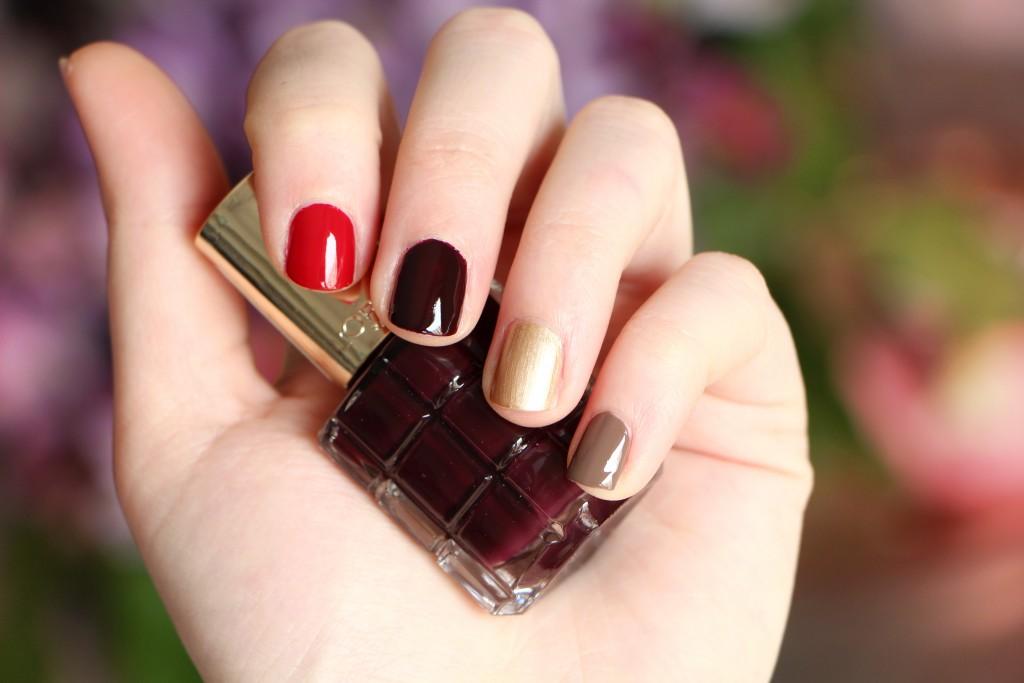 loreal nails brown red