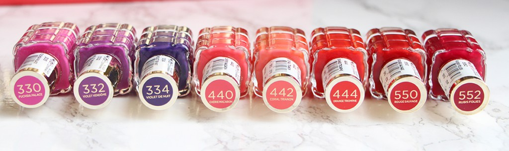 loreal vernis a lhuile rose violet rouge