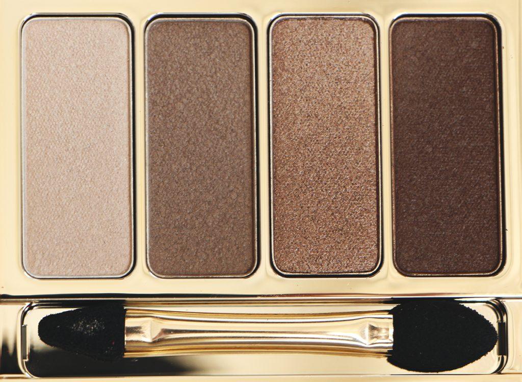 brown palette 4 couleurs clarins revue swatch