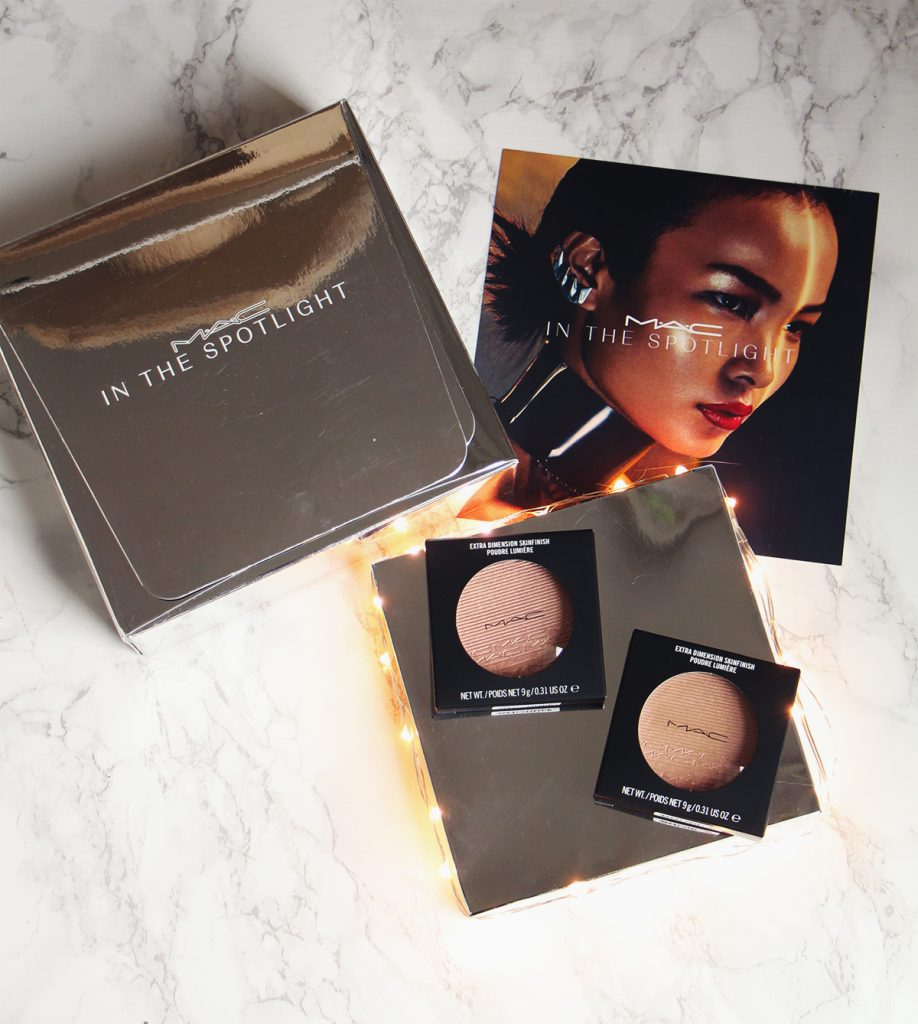 mac extra dimension skinfinish poudre show gold beaming blush