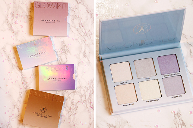 Les Glow kits d'Anastasia Beverly Hills (Sun Dipped, Aurora, Moon Child, Sweets)
