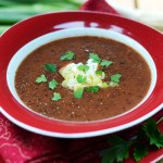 Rote-Bohnensuppe