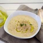 Cheddar-Blumenkohlsuppe