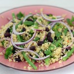 Quinoa Salat mit Bohnen