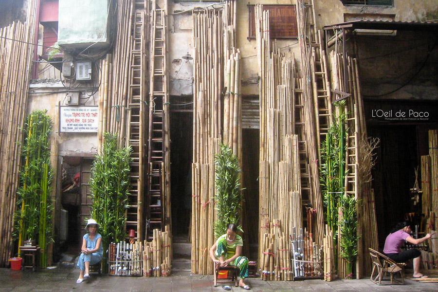 Les vendeuses de bambous